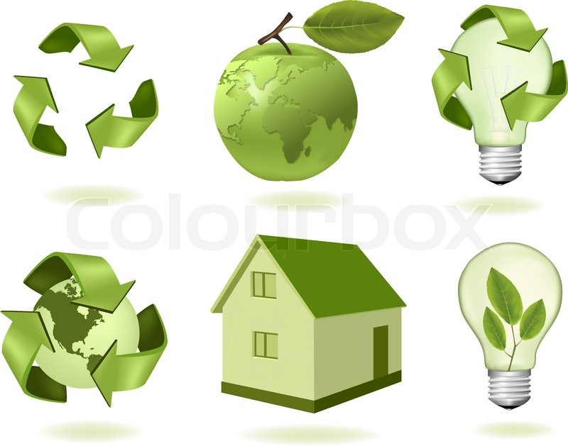 Green apple with world map and big set of ecology icons vector green apple with world map and big set of ecology icons vector stock vector colourbox gumiabroncs Images
