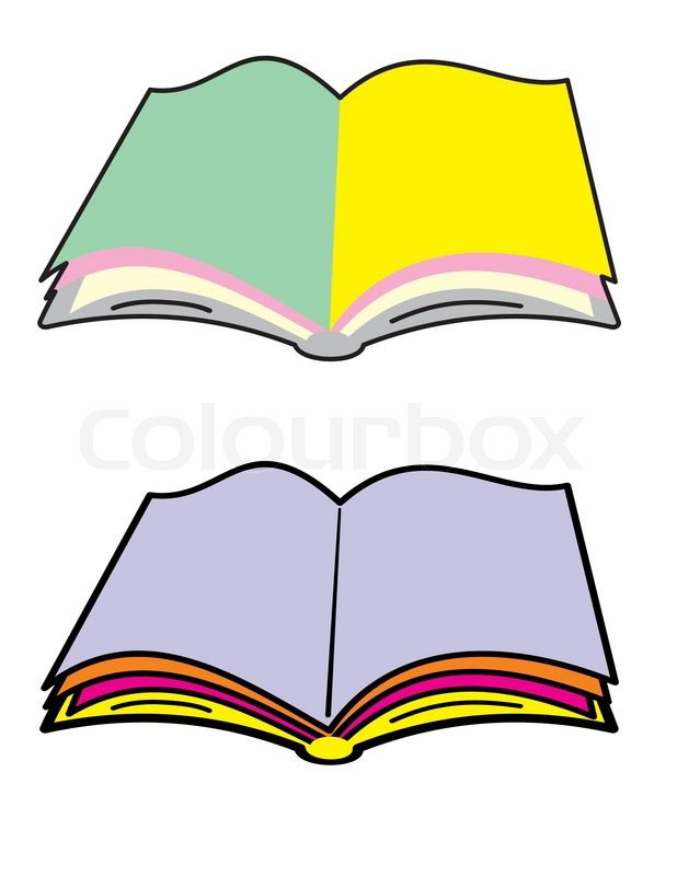 coloring pages open book - open book with blank color pages isolated illustration