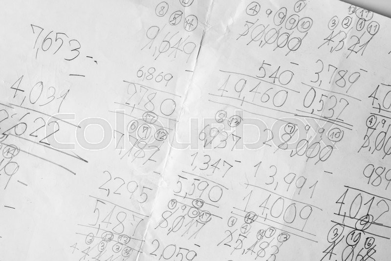 Maths notes with handwriting | Stock image | Colourbox