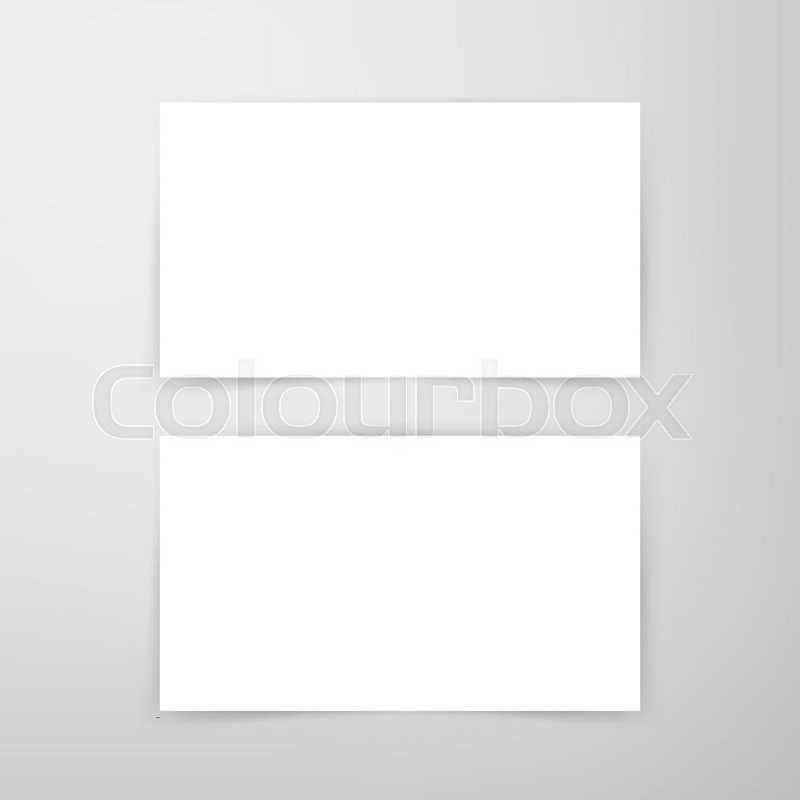 Blank business card mockup vector illustration of brand identity blank business card mockup vector illustration of brand identity design stock vector colourbox reheart Gallery