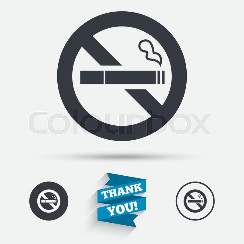no smoking sign icon quit smoking cigarette symbol flat icons