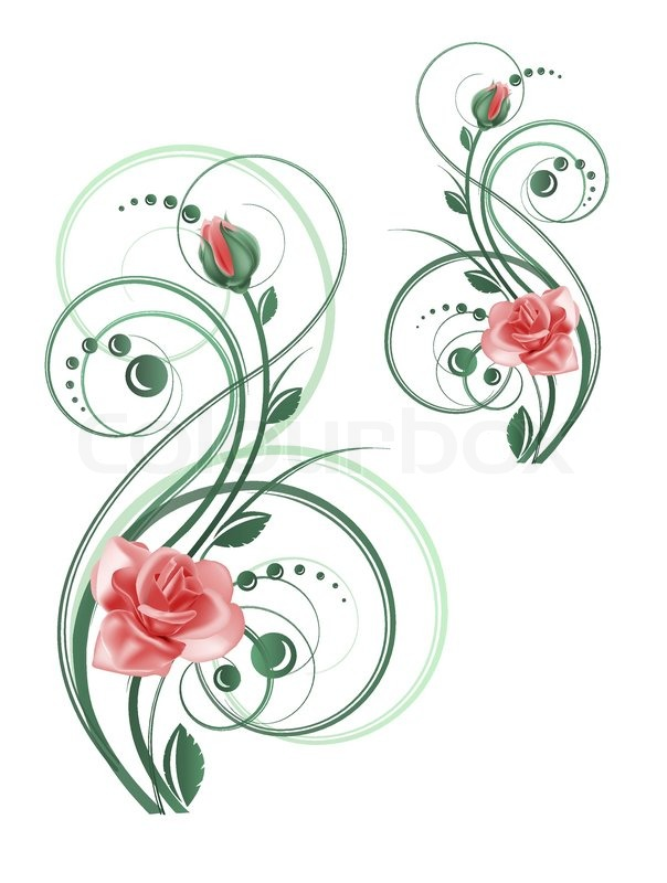 swirly roses background bouquet - photo #4
