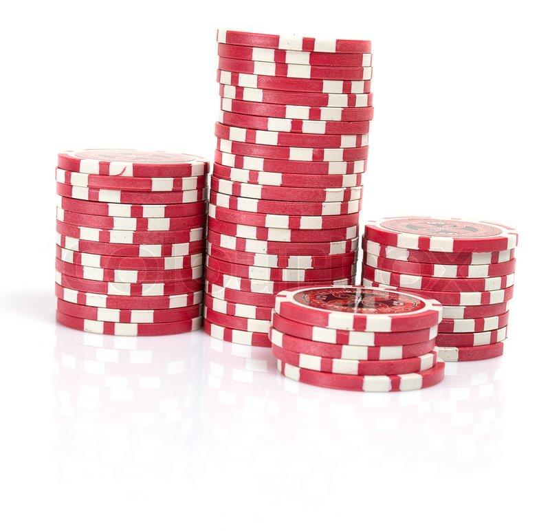 Poker chip isolated on white background   Stock Photo ...