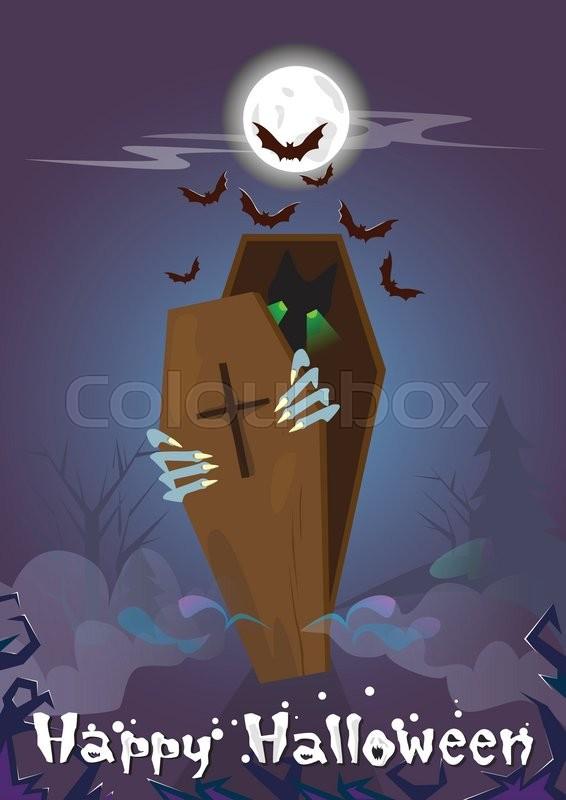 Happy Halloween Banner Zombie In Stock Vector Colourbox