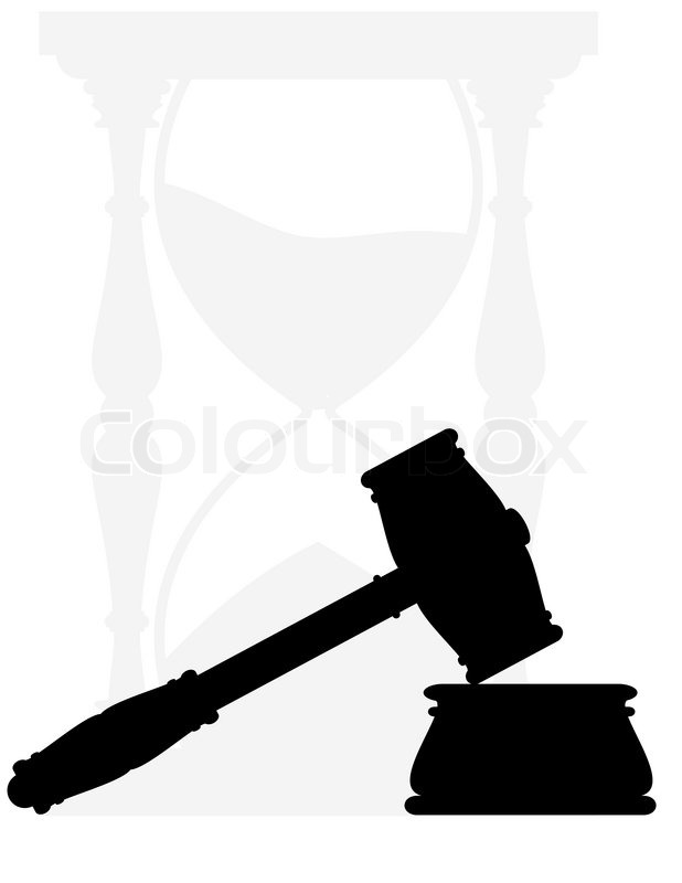gavel  hammer and anvil symbols of law  hourglass Court Gavel Clip Art Court Gavel Clip Art