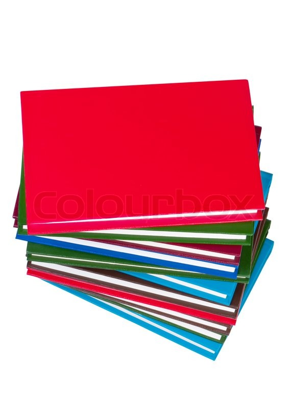 Stack Of Books On White Background Stock Image Colourbox