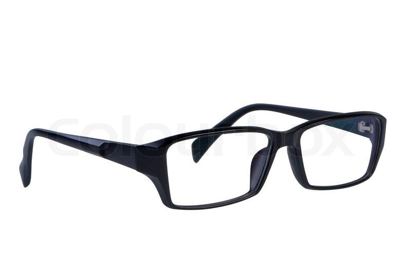 Eye Glasses Isolated On White Stock Image Colourbox