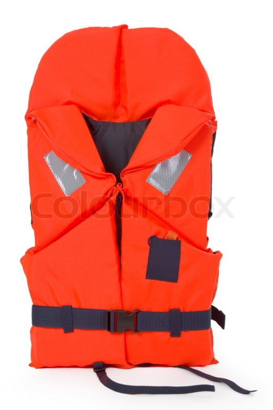 Orange Life Jacket For Water Activities Stock Image Colourbox