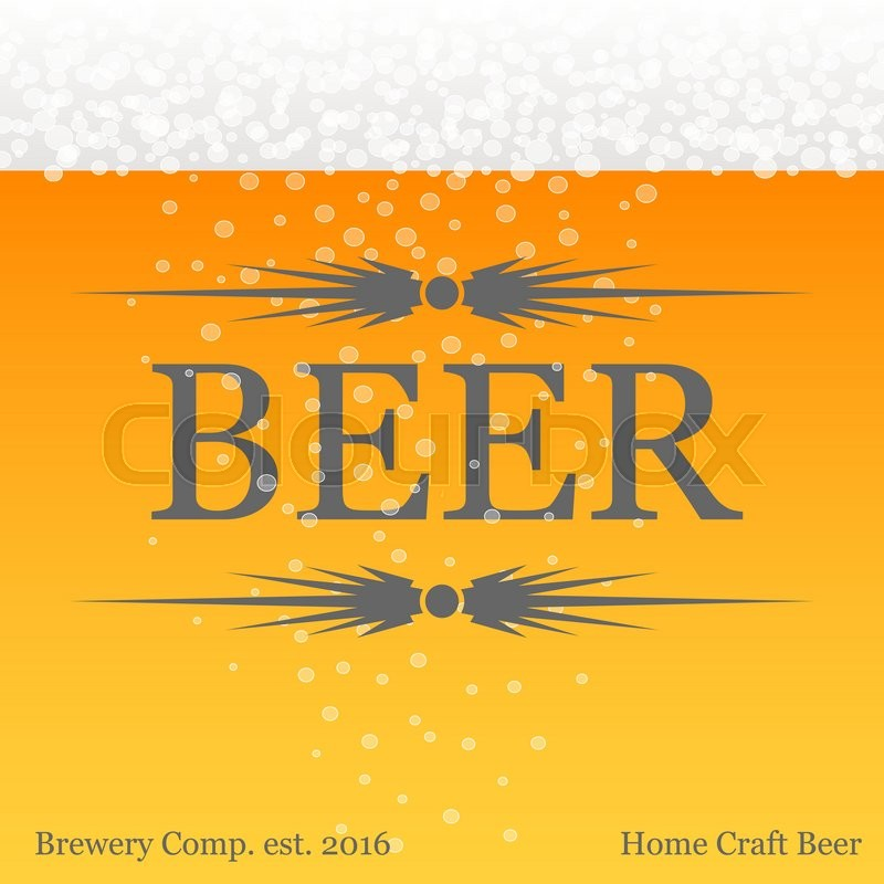 Banner with beer theme yellow background. Poster for beer festival ...