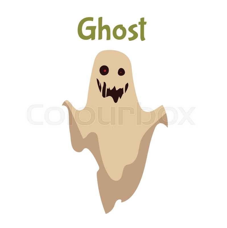 Scary ghost halloween costume idea cartoon style vector scary ghost halloween costume idea cartoon style vector illustration isolated on white background frightening red eye ghost traditional symbol of publicscrutiny Images