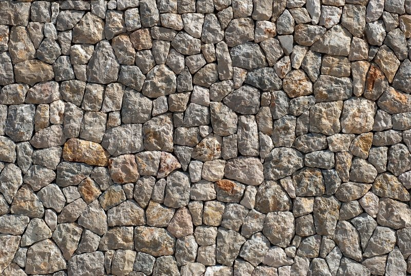 perfect rocky wall closeup a sunny day in spain stock