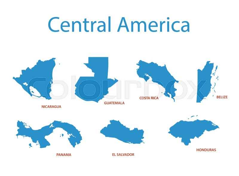 Central america - vector maps of ... | Stock vector | Colourbox