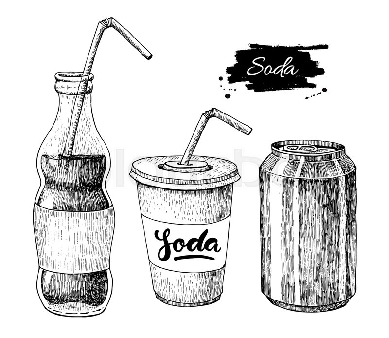 Vector Soda Drawing. Hand Drawn Soda ...