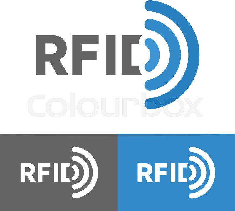 Vector Rfid Tag Icon Or Logo Radio Frequency