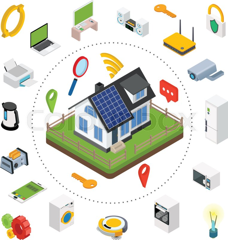 Smart House Technology Entrancing Smart Homeisometric Design Style Vector Illustration Concept Of Inspiration