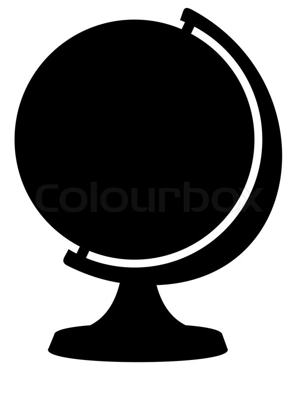 silhouette of globe isolated illustration on white preschool classroom jobs clipart classroom jobs clipart free