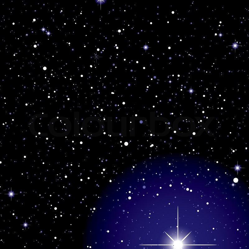 deep black space with bright exploding stars ideal