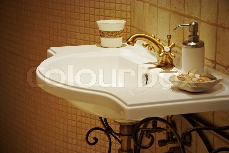 old fashioned bathroom sinks sink in interior of fashioned bath room stock photo 19791