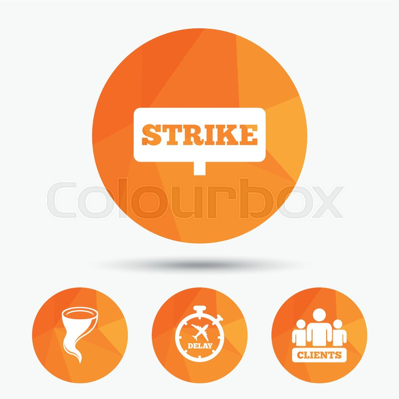 Strike icon  Storm bad weather and     | Stock vector