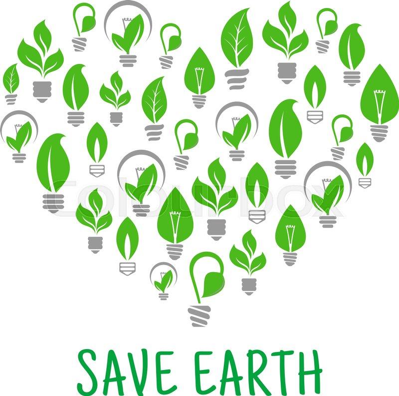 Save Earth Poster. Energy Saving Green ...