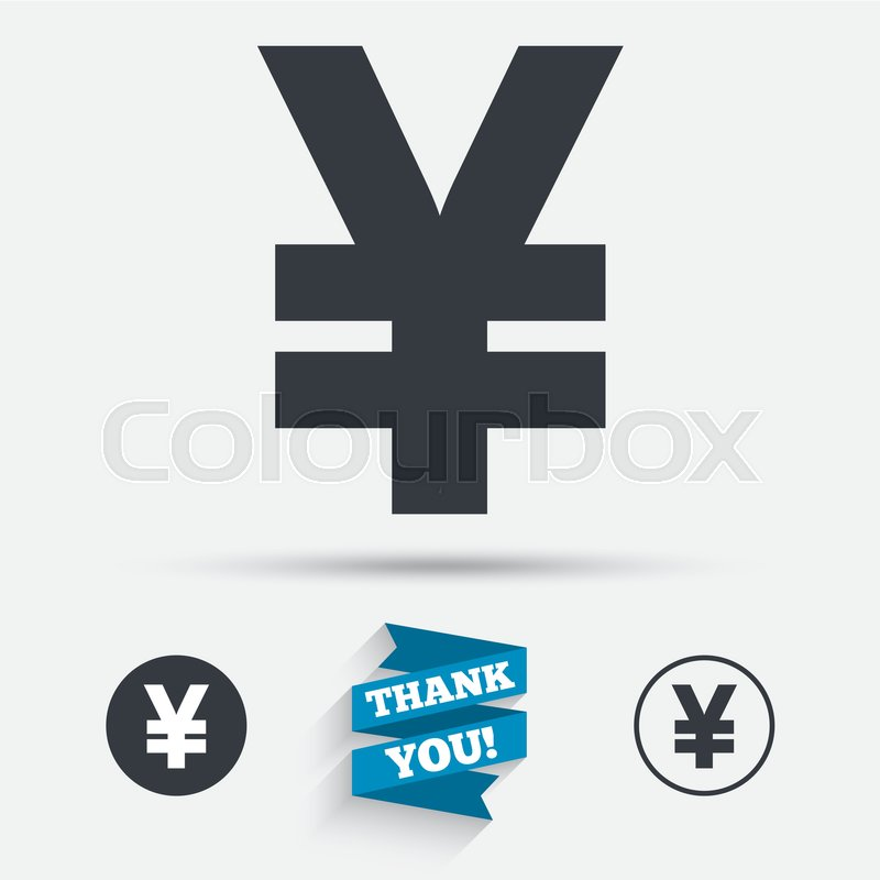 Yen Sign Icon Jpy Currency Symbol Money Label Flat Icons Buttons