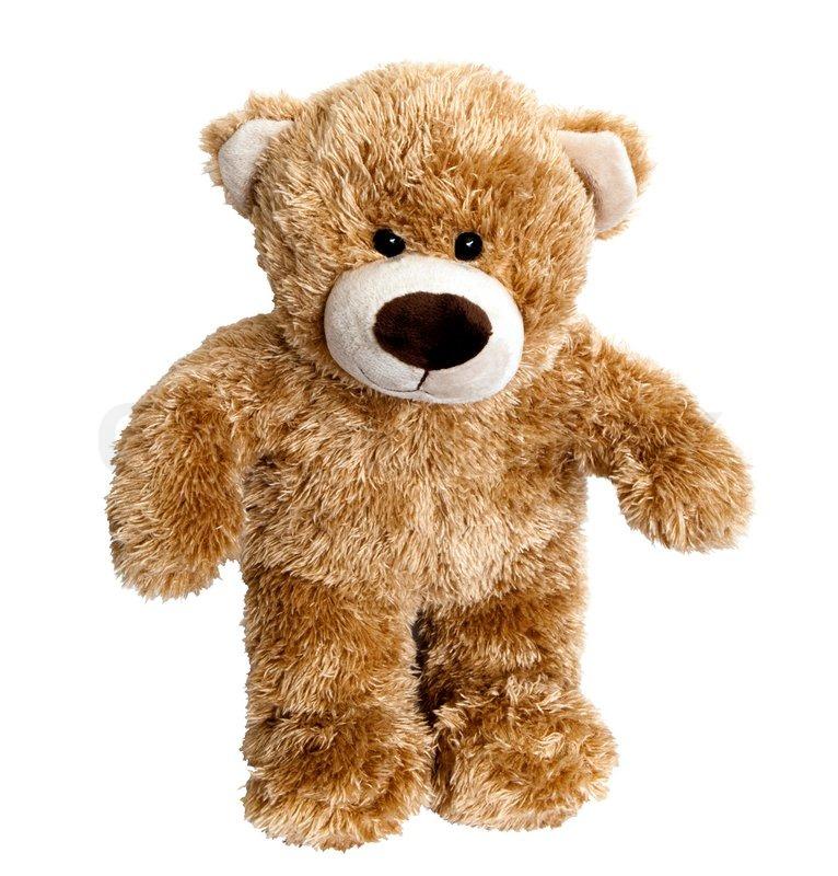 teddy bear isolated on white background stock photo colourbox
