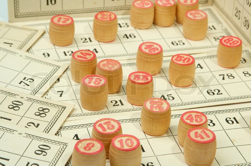 Russian lotto is national table game on money and not only.., stock photo