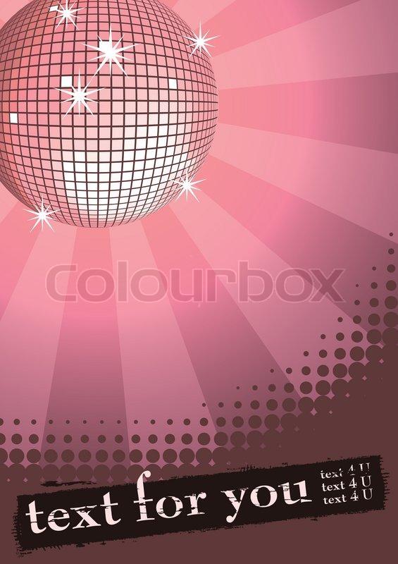 Spiegel discokugel auf rosa strahlen hintergrund for Spiegel hintergrund