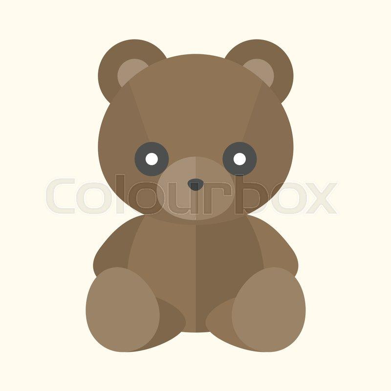 vector teddy bear icon flat design stock vector colourbox
