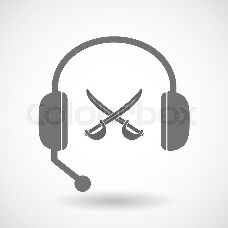 Illustration of an isolated hands free     | Stock vector