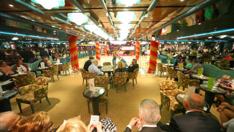Glamorous bar from inside during lottery in dubai uae