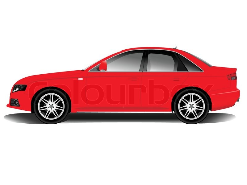 Red sports car on a white background | Stock Vector ...