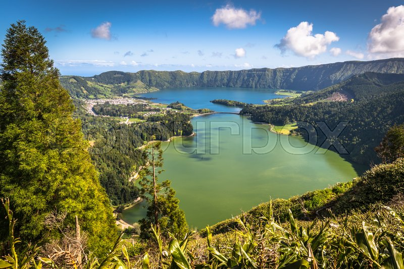 Stock image of 'Lagoa Sete Cidades on Azores island'