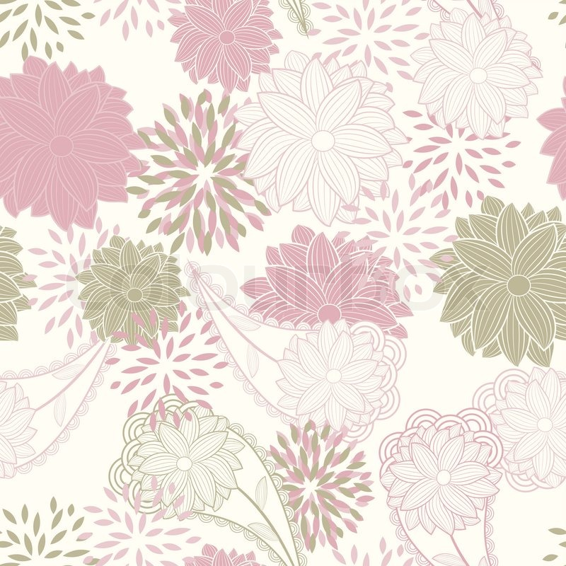 Vector Seamless Floral Background Stock Vector Colourbox