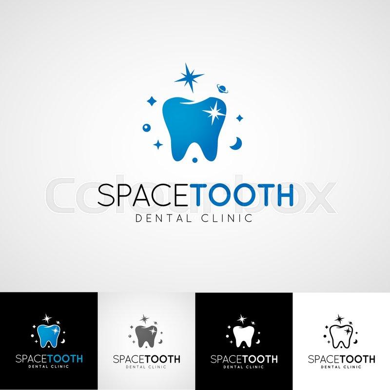 Dental logo template. Teethcare icon set. dentist clinic insignia ...