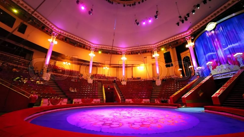 Interior Of Circus With Empty Arena Before Performance