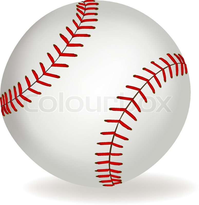 Baseball ball on a white background      | Stock vector
