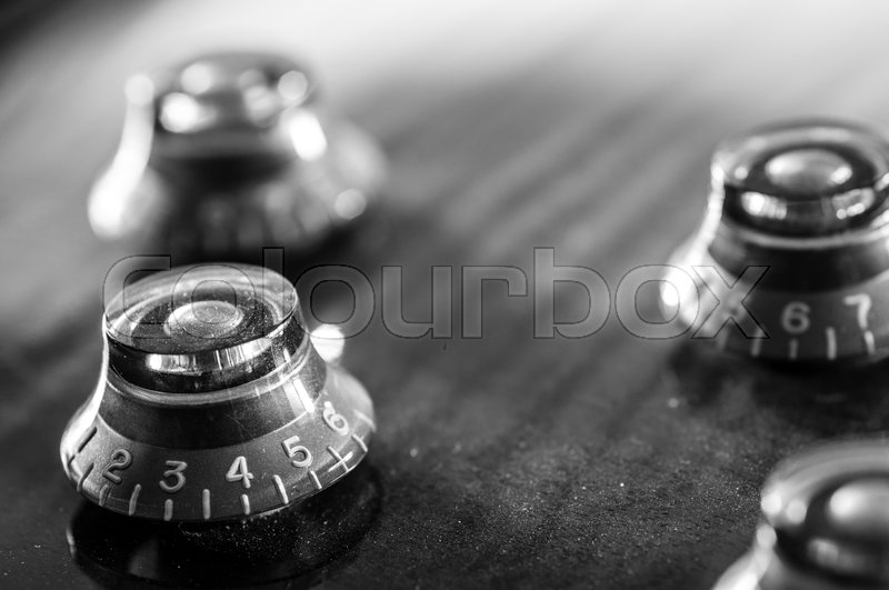 Close up image of electric guitar volume control | Stock Photo ...