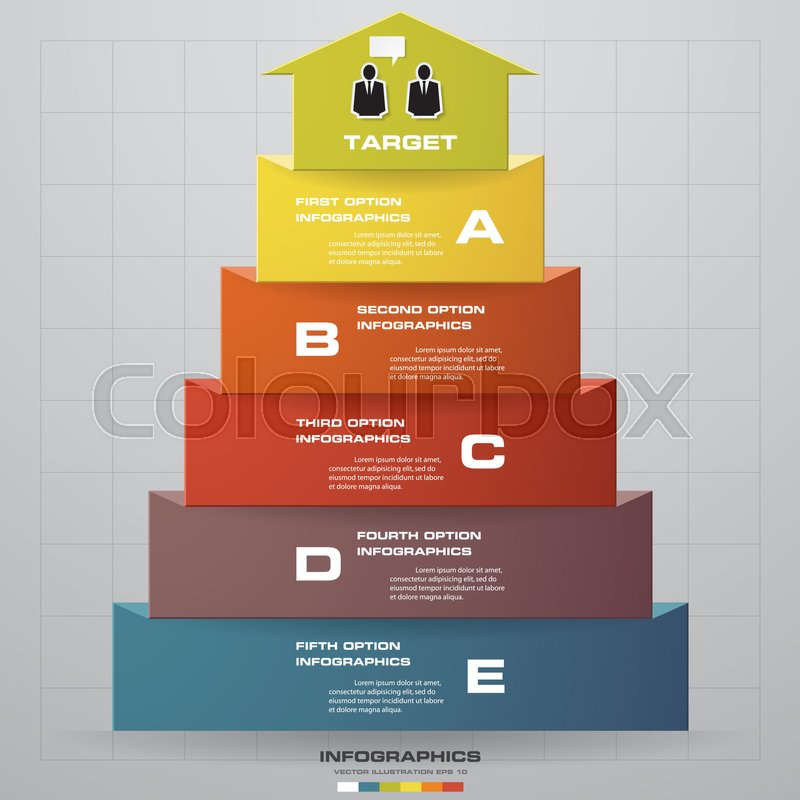 Abstract business chart 5 steps from lower to upper steps diagram abstract business chart 5 steps from lower to upper steps diagram templategraphic or website layout vector step by step idea ccuart Choice Image