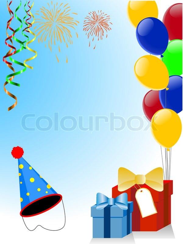 Urlaub Dekoration Mit Luftballons Vektorgrafik Colourbox