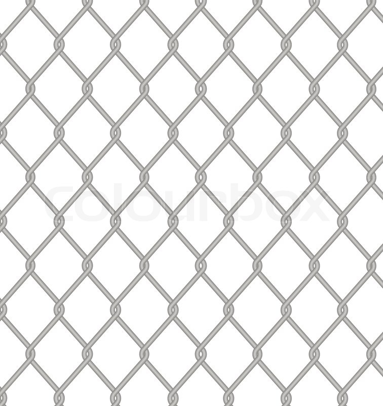 Wire fence. Vector. | Stock Vector | Colourbox