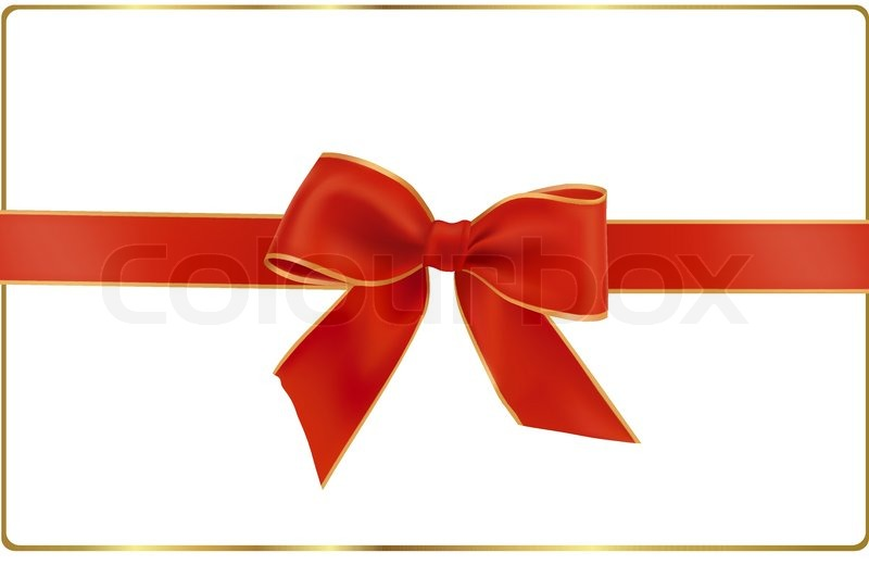 gift red bow with a ribbon vector stock vector colourbox rh colourbox com ribbon vector free ribbon vector art