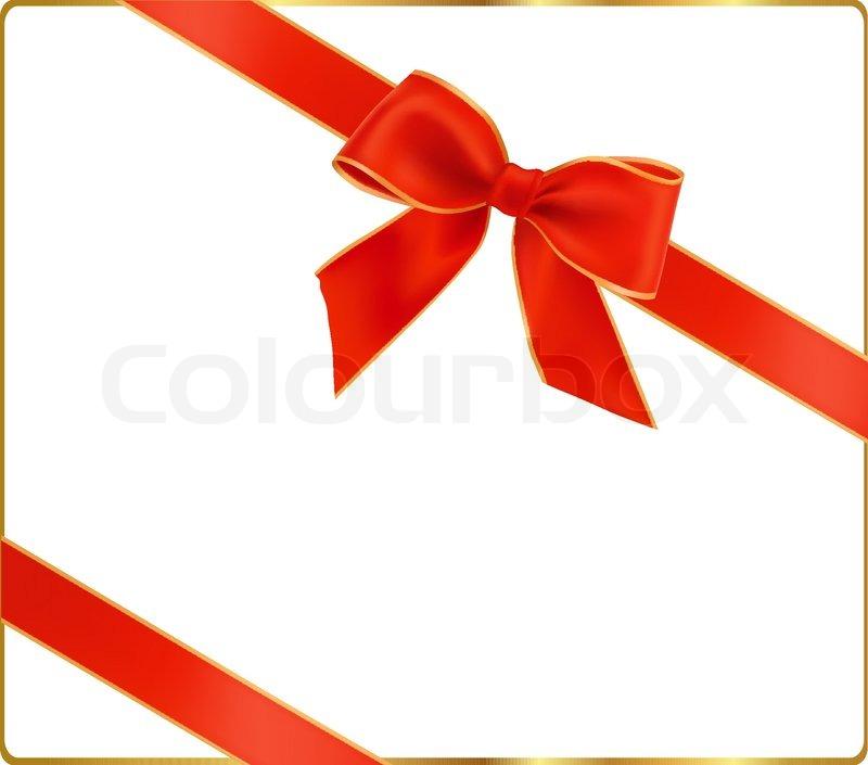 geschenk roter schleife mit einem band vektorgrafik colourbox. Black Bedroom Furniture Sets. Home Design Ideas
