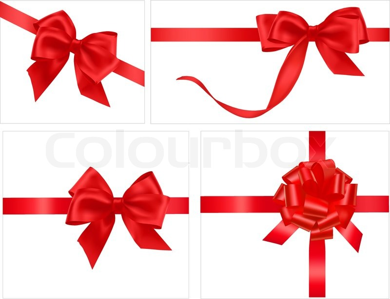 Big collection of gift bows vector stock vector colourbox big collection of gift bows vector negle Gallery