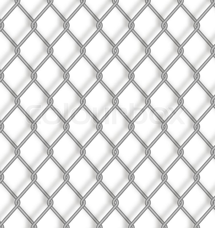Wire fence. Vector. | Stock Vector | Colourbox