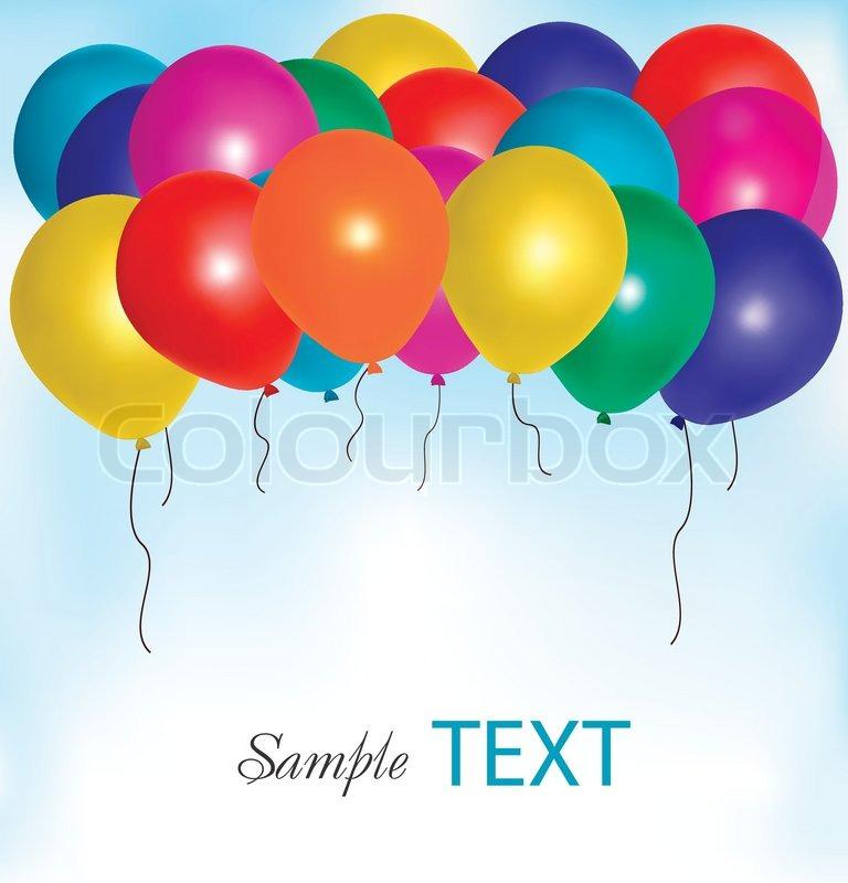 Ballons Rahmen Komposition mit Platz für Ihren Text. Vektor ...