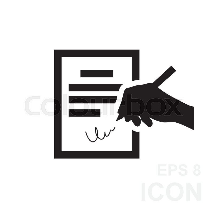 the contract icon agreement and signature pact accord