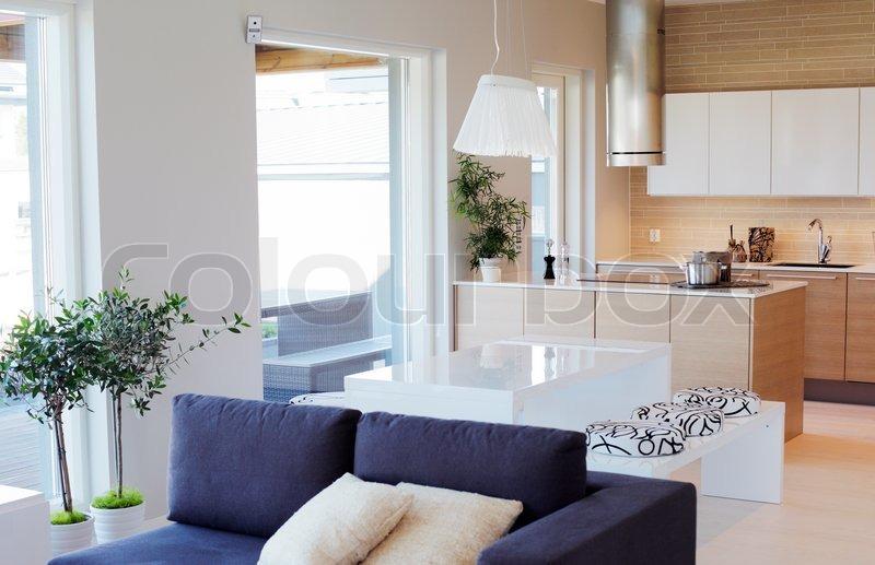 Image of 'Interior of a modern scandinavian house.'