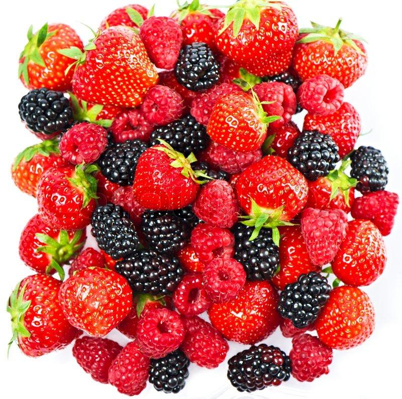 mix of fresh summer berries