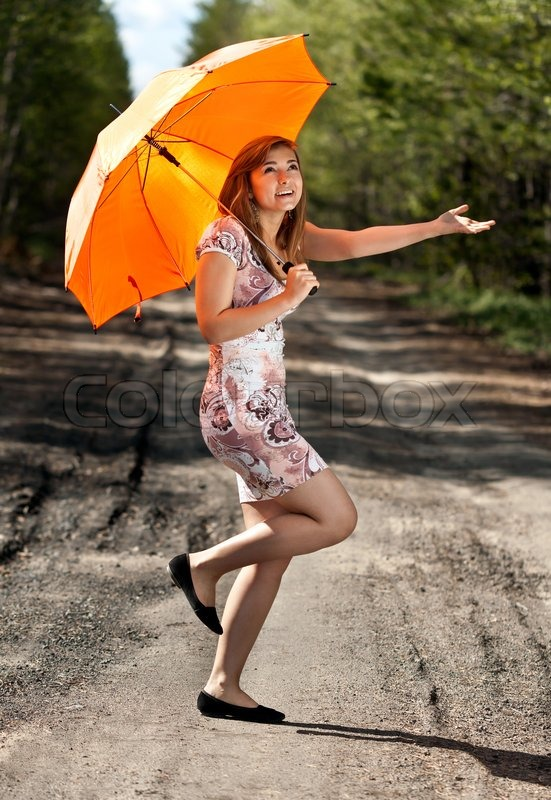 photo of girls with umbrellas № 22114